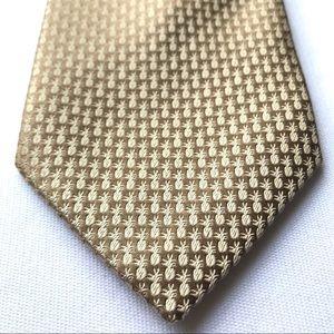 Tommy Bahama pineapple print gold silk tie NWT